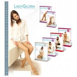 Calza elastica preventiva autoreggente Lady Gloria 12mmHg 70 den